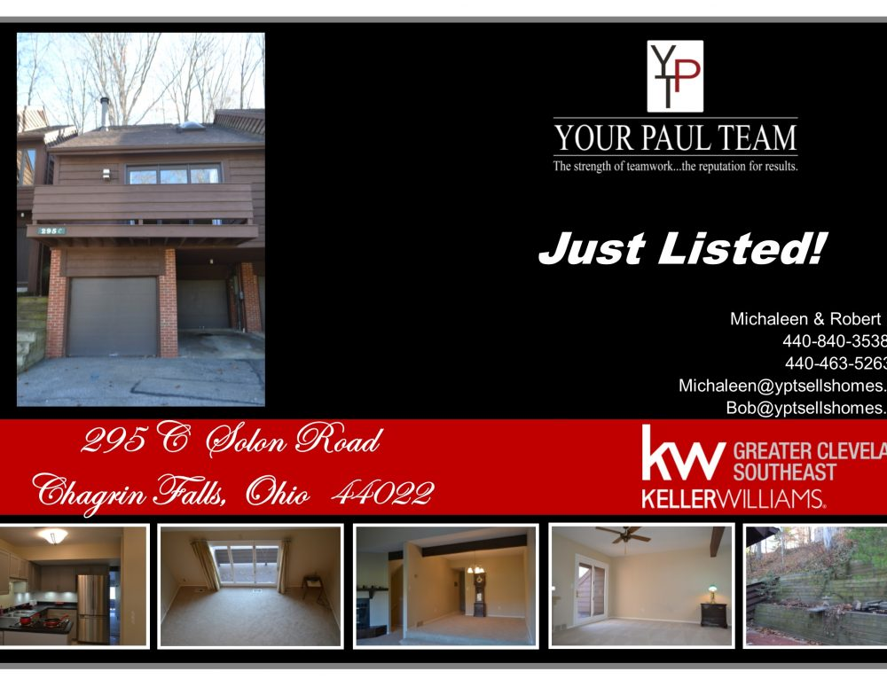 295C Solon Road, Chagrin Falls – Just Listed!