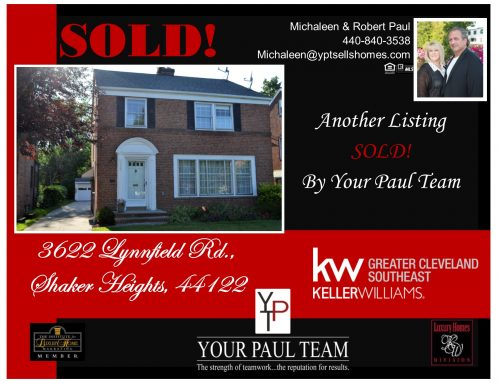 3622 Lynnfield Rd., Shaker Heights – SOLD!
