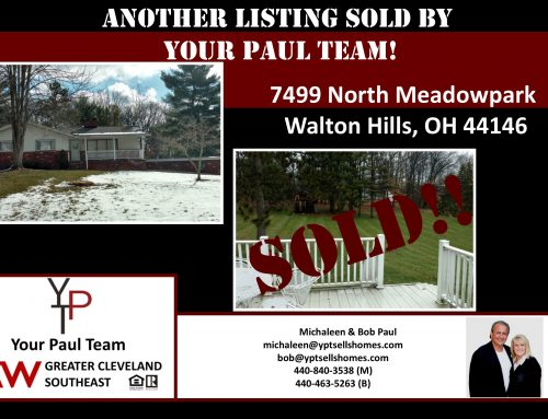 Another Listing Sold By Your Paul Team!  7499 North Meadow Park-Walton Hills