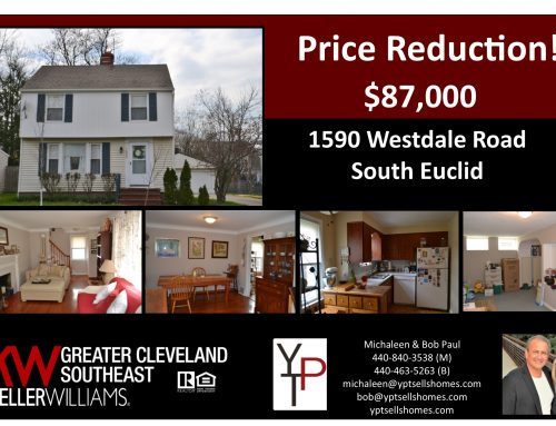 Price Reduction! 1590 Westdale Road – South Euclid