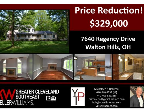 Price Reduction!! 7640 Regency Drive – Walton Hills