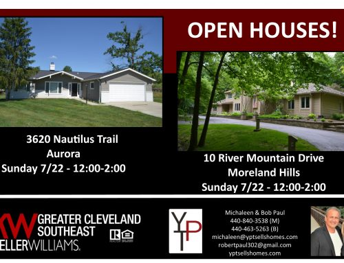 Open Houses this Sunday!!