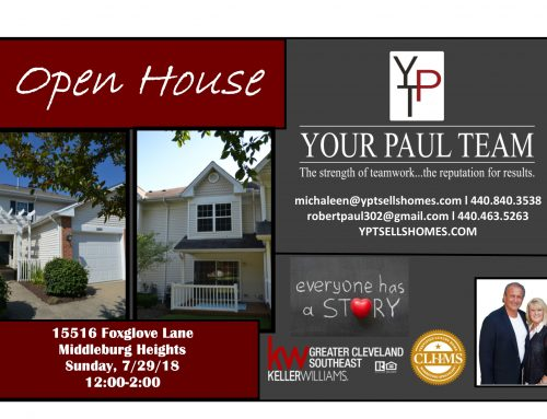 Open House this Sunday!! 15516 Foxglove Lane – Middleburg Heights!