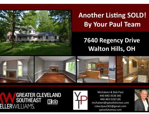 Another Listing Sold!! 7640 Regency Drive – Walton Hills