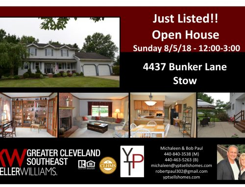 Just Listed- First OPEN HOUSE this Sunday!! – 4437 Bunker Lane – Stow