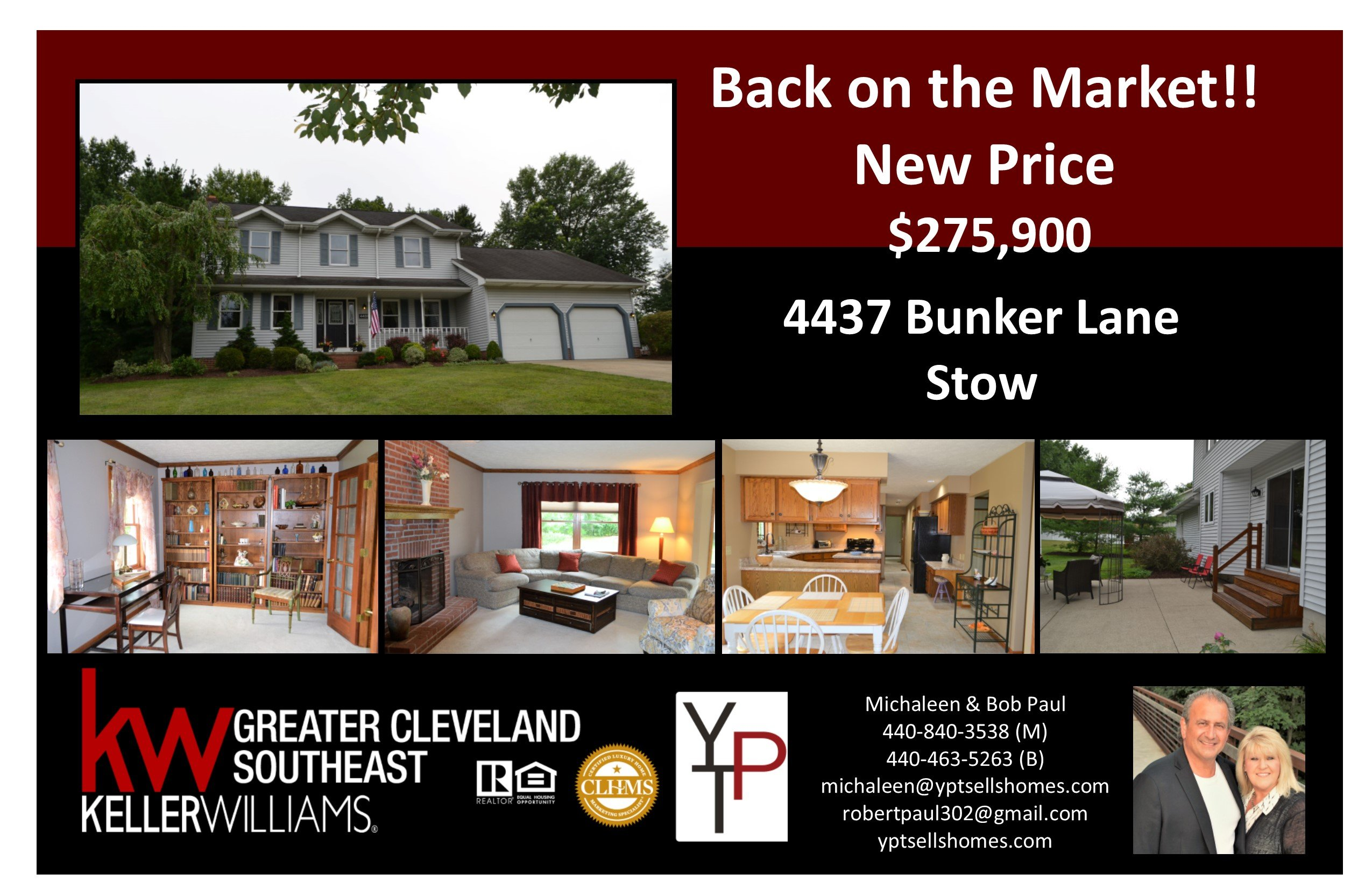 Back on the Market!! – 4437 Bunker Lane – Stow