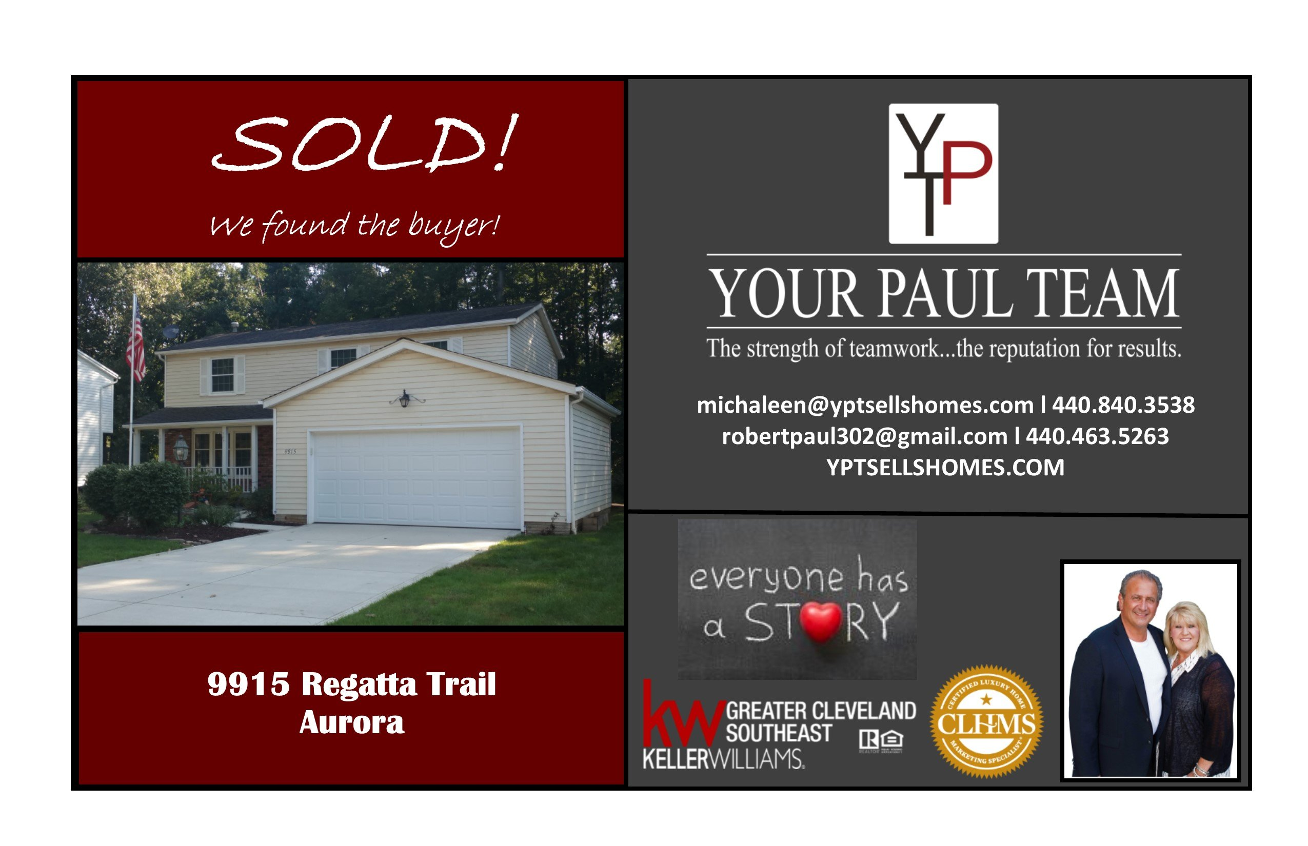 Sold! 9915 Regatta Trail- Aurora