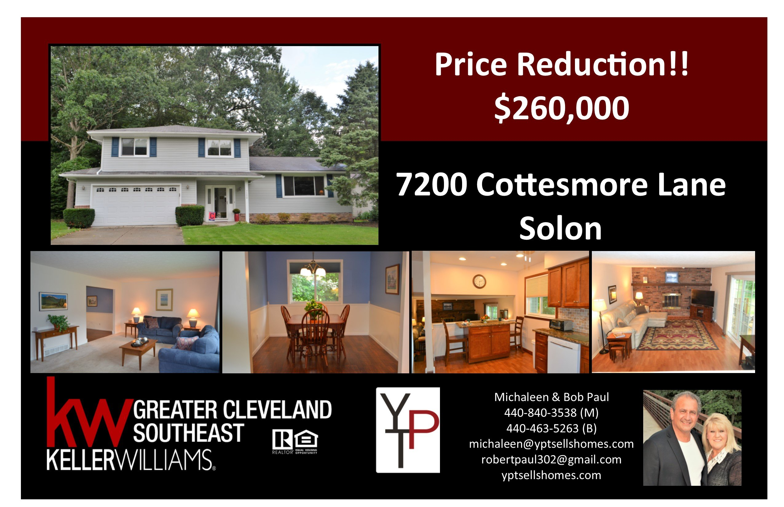 Price Reduction!! 7200 Cottesmore Lane- Solon!!