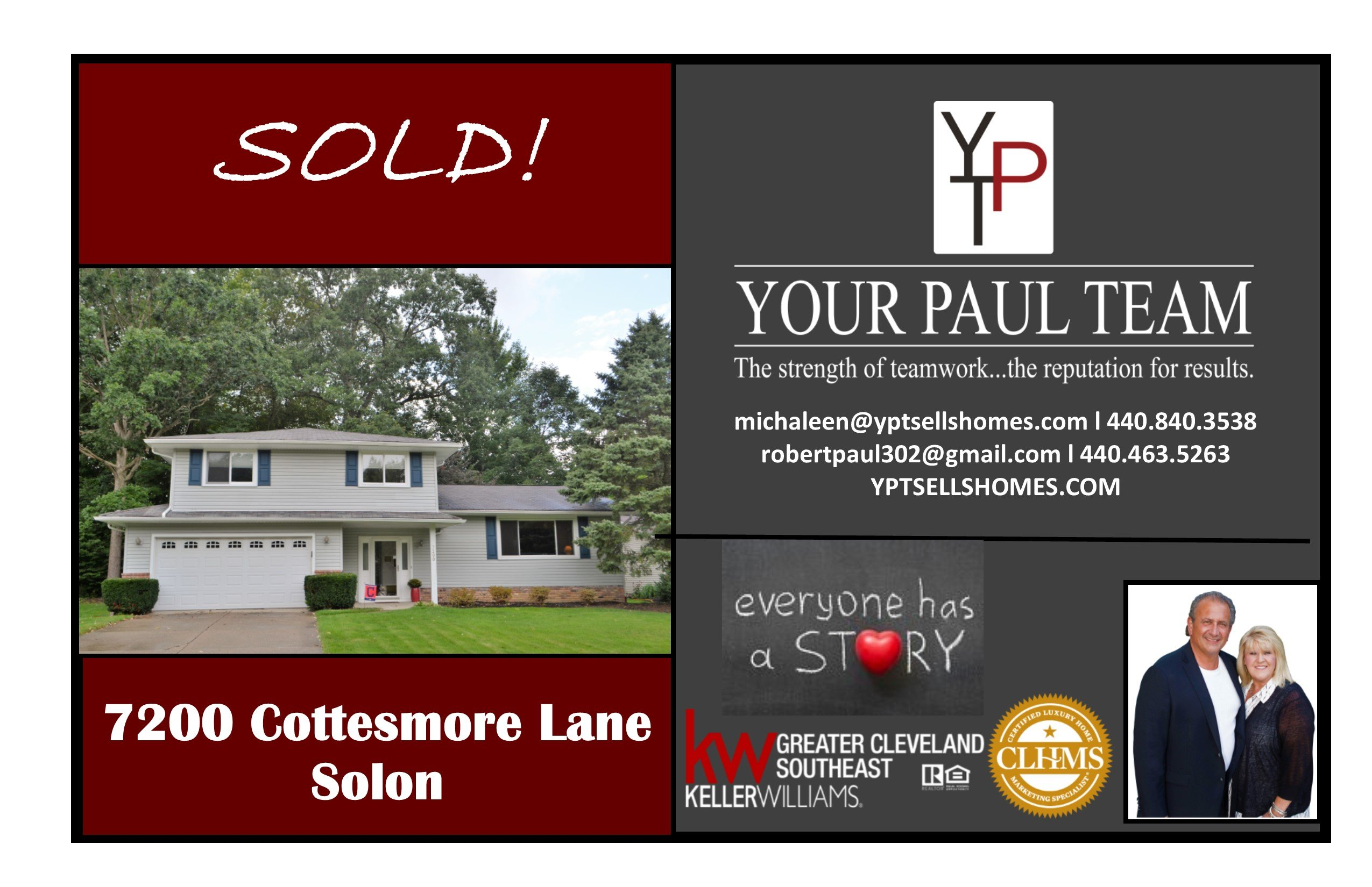 Another Listing Sold By YPT!!  7200 Cottesmore Lane – Solon!