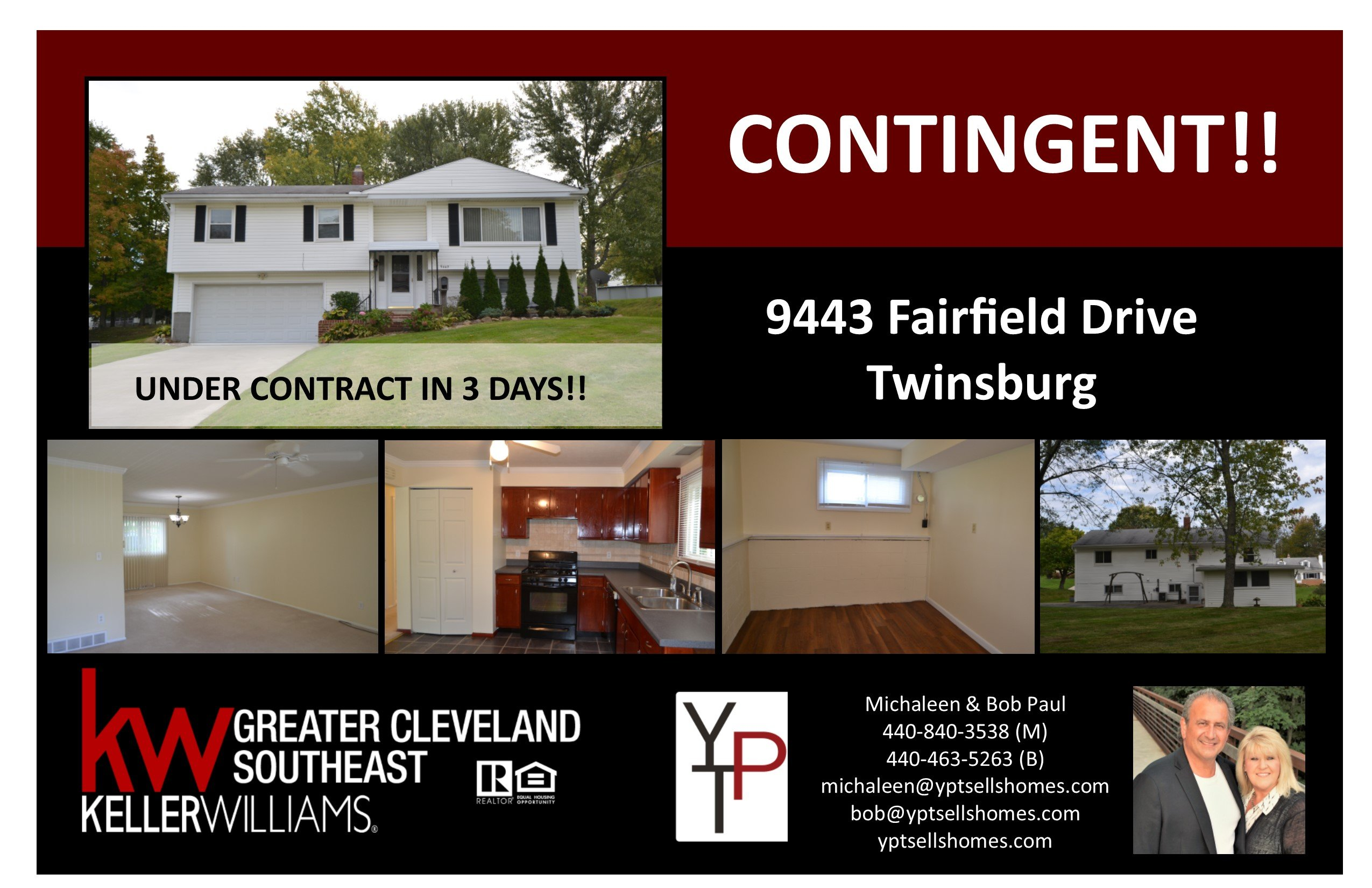 Just Listed & Under Contract in 3 Days!!!