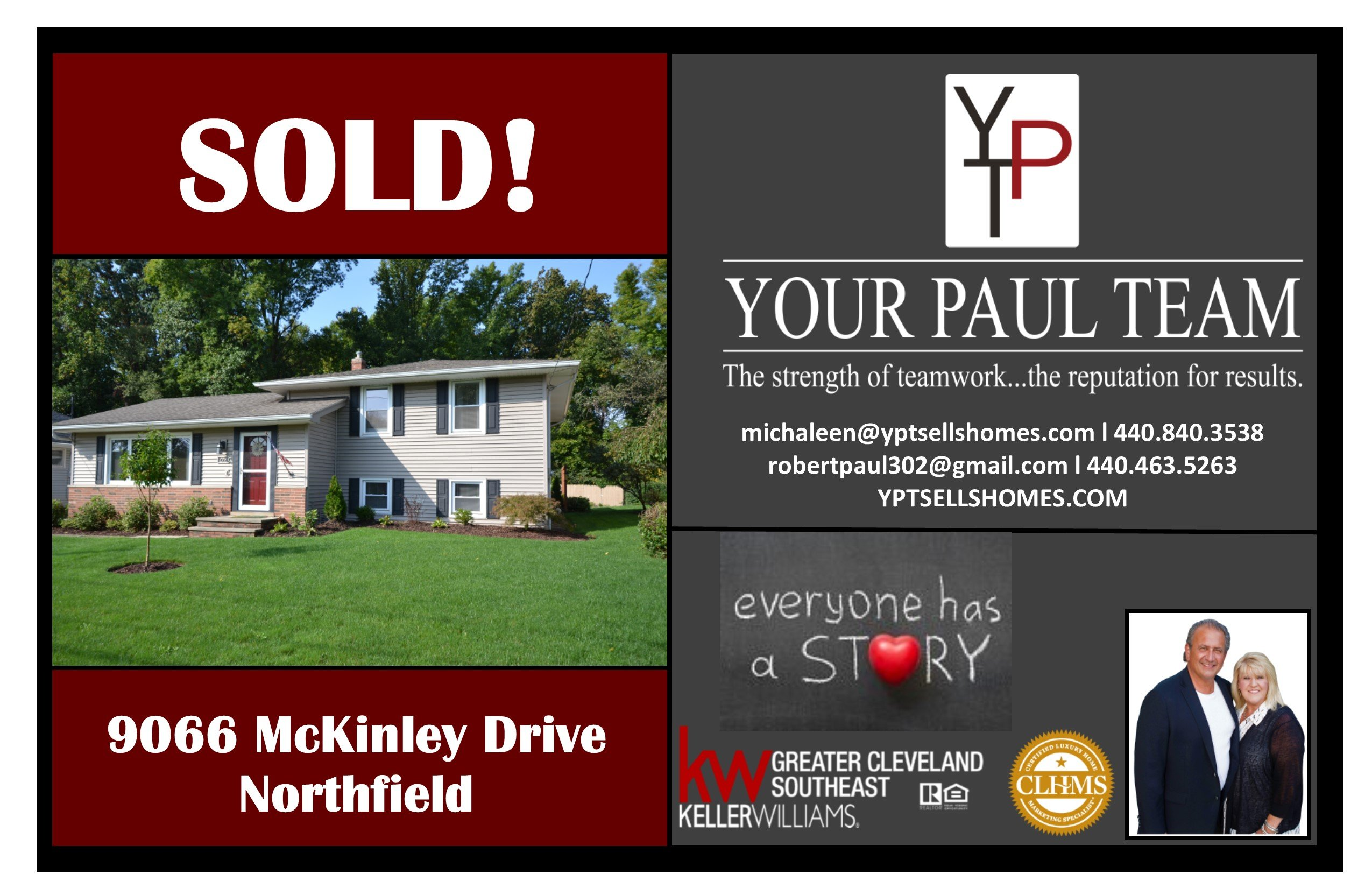 Another Listing SOLD By Your Paul Team!  9066 McKinley Drive, Northfield