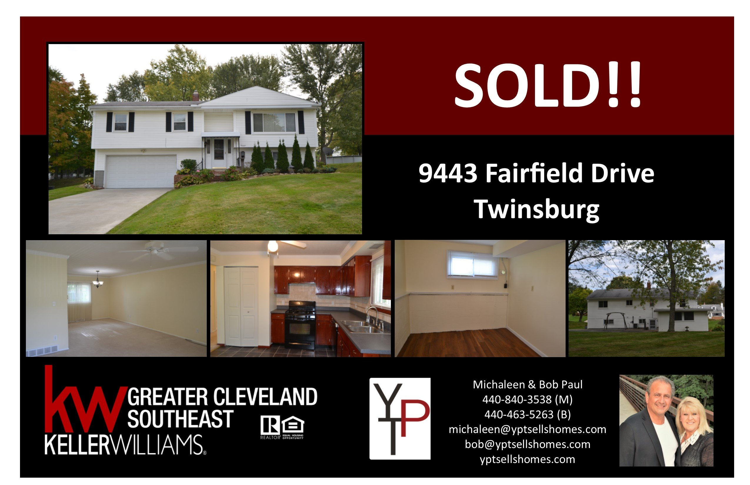 Another Listing SOLD by Your Paul Team – 9443 Fairfield Drive – Twinsburg