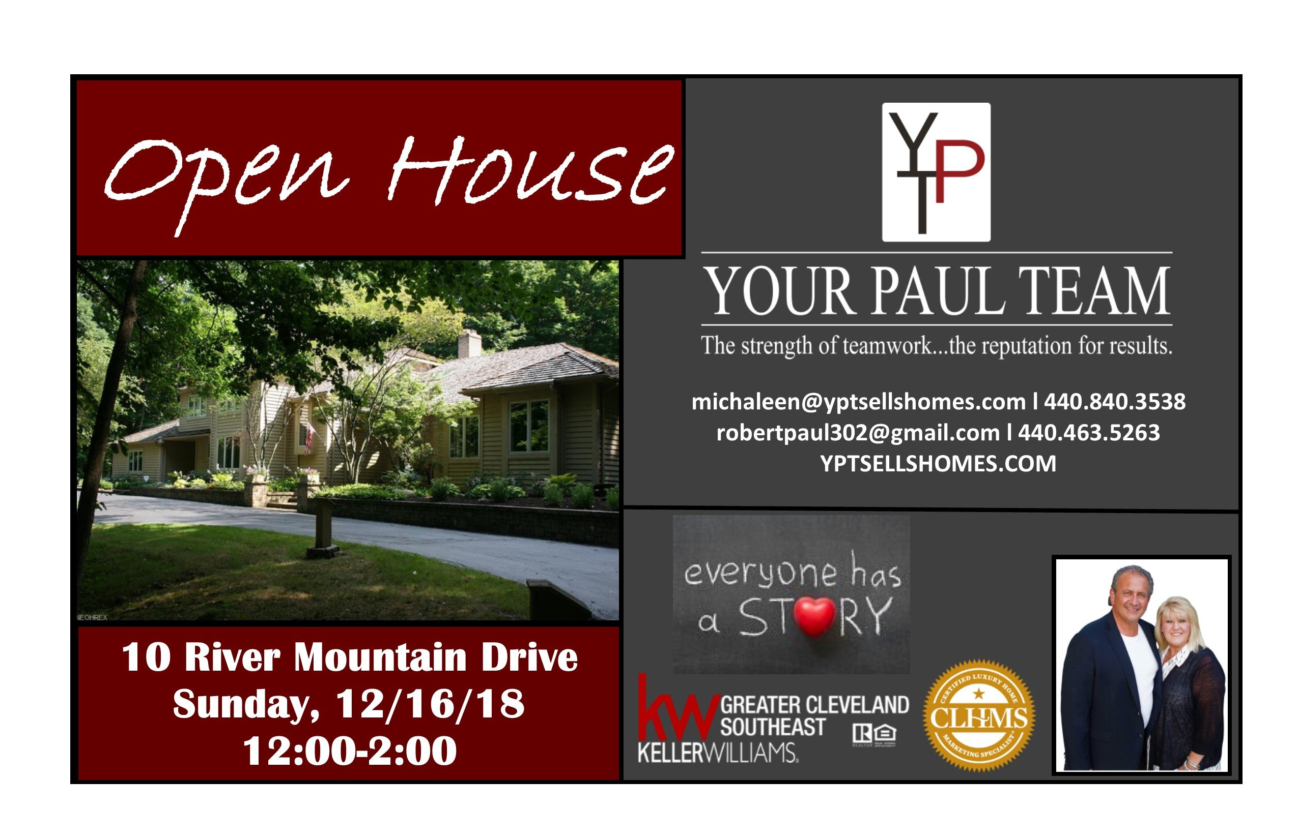 Open House This Sunday-December 16th , 10 River Mountain, Moreland Hills