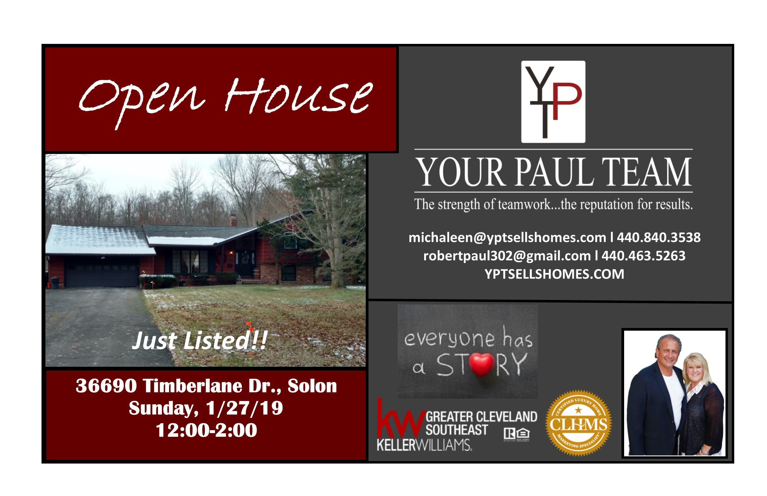 New Listing!! First Open House in Solon- 36690 Timberlane Drive