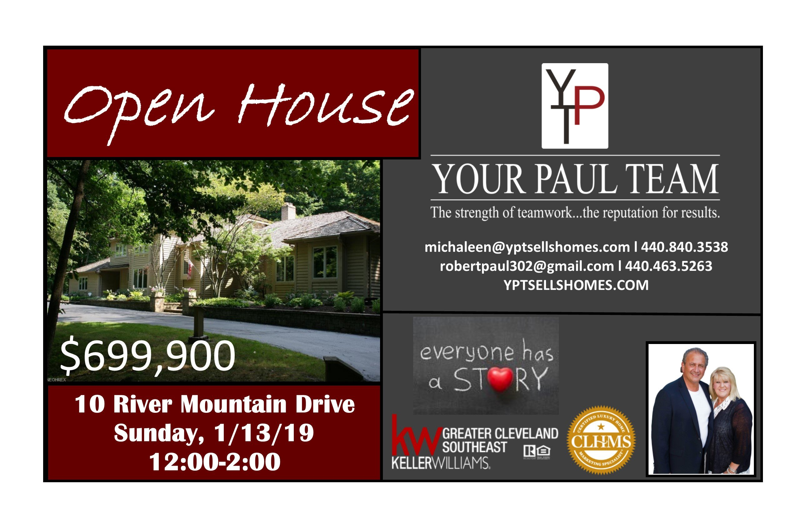 Open House this Sunday 1-13-19!