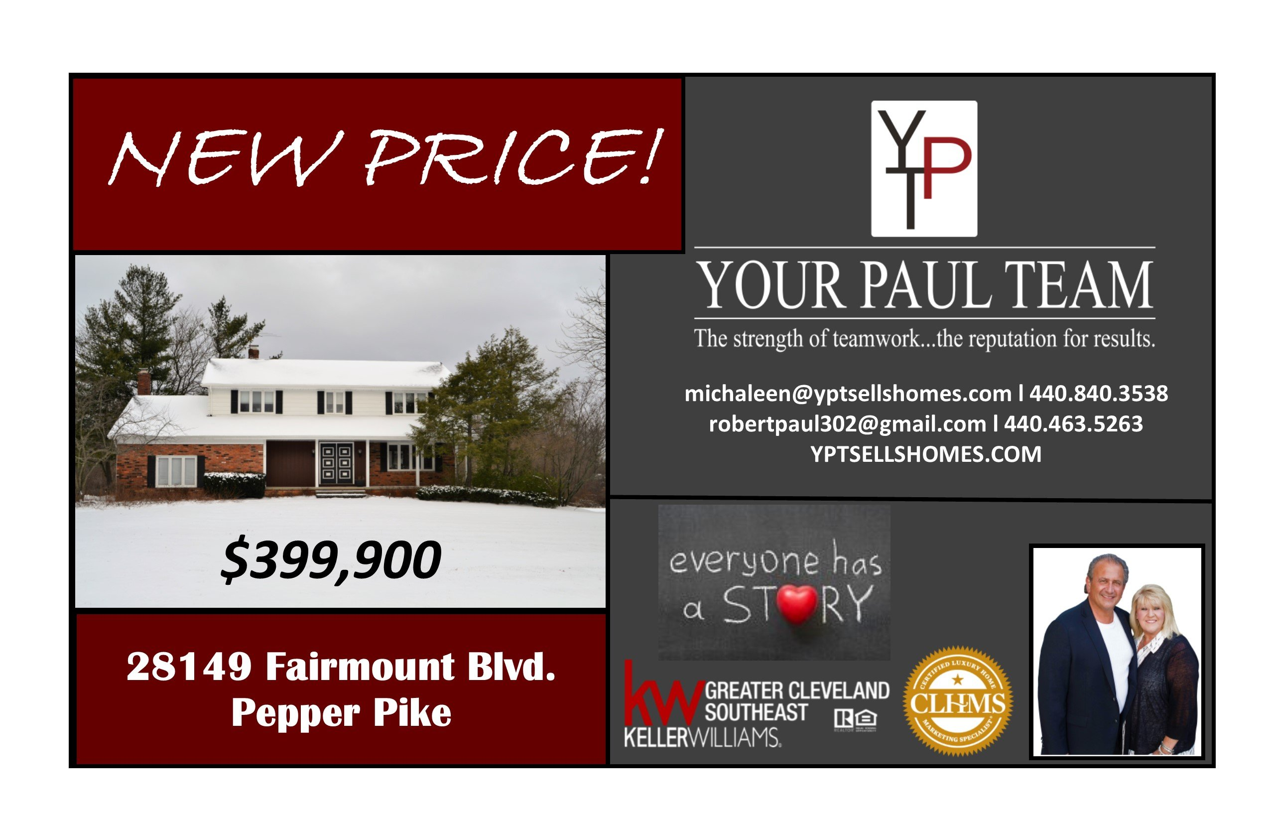 New Price – 28149 Fairmount Blvd.