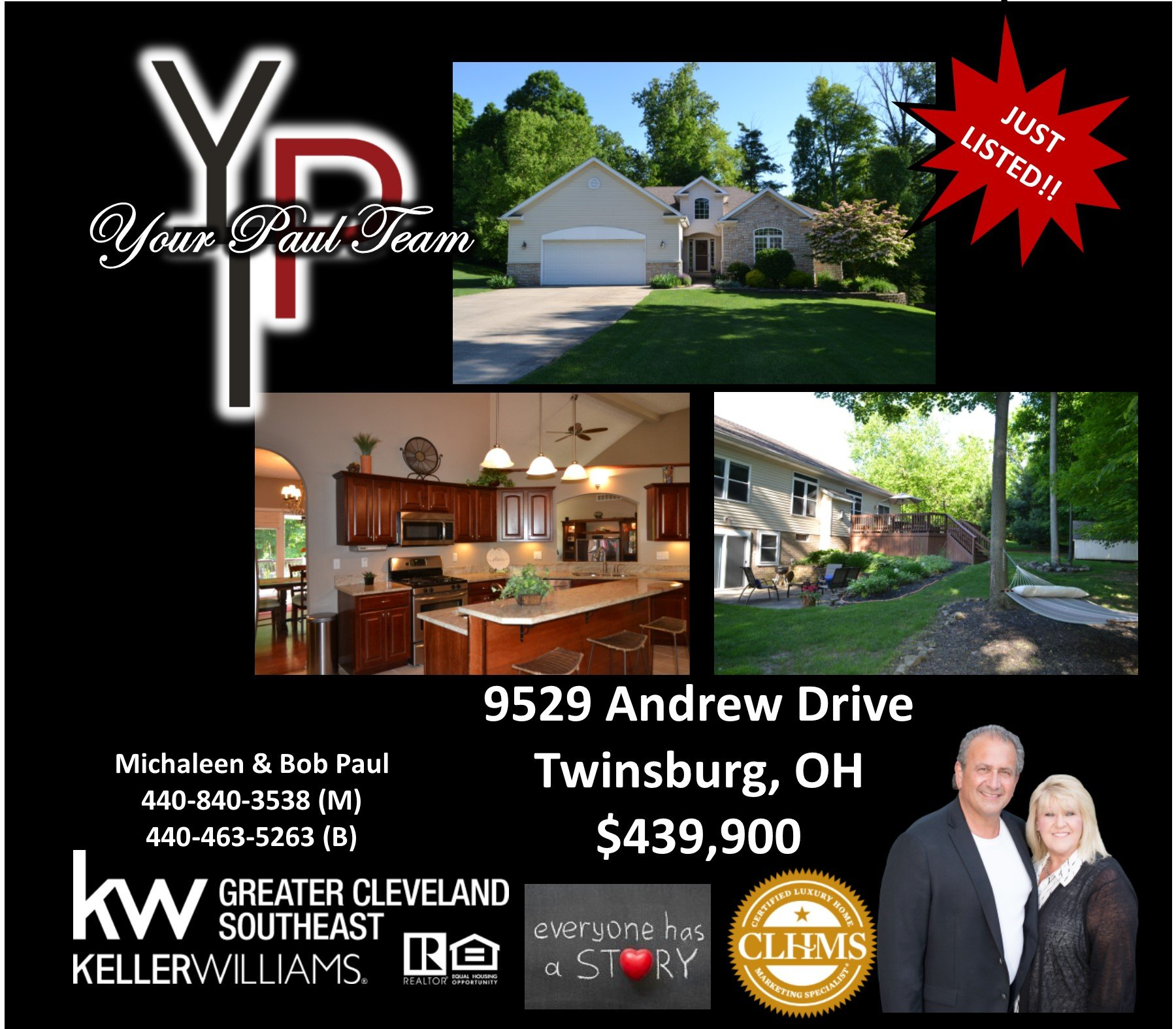 New Listing! 9529 Andrew Drive – Twinsburg!