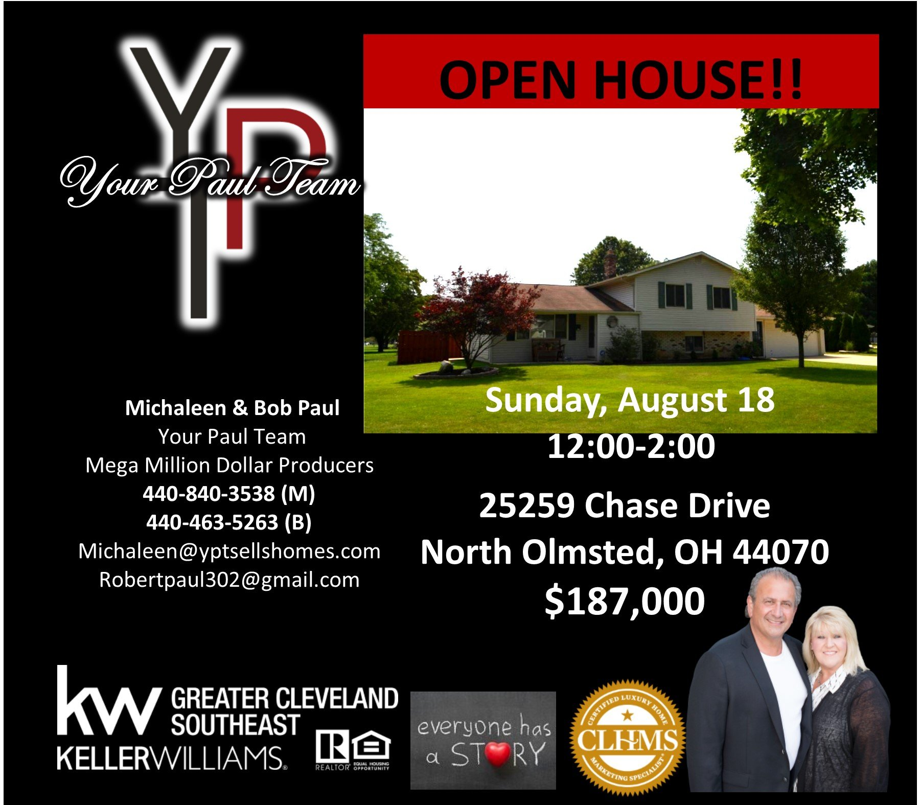 Open House this Sunday in North Olmsted!!