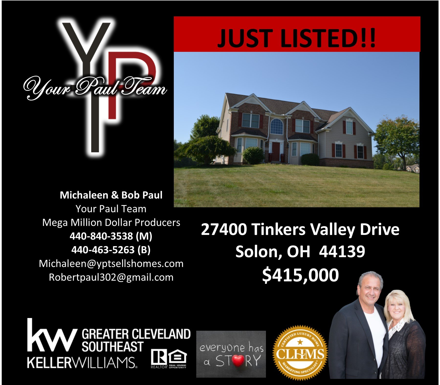 Another Home Listed By Your Paul Team! 27400 Tinkers Valley Drive – Solon