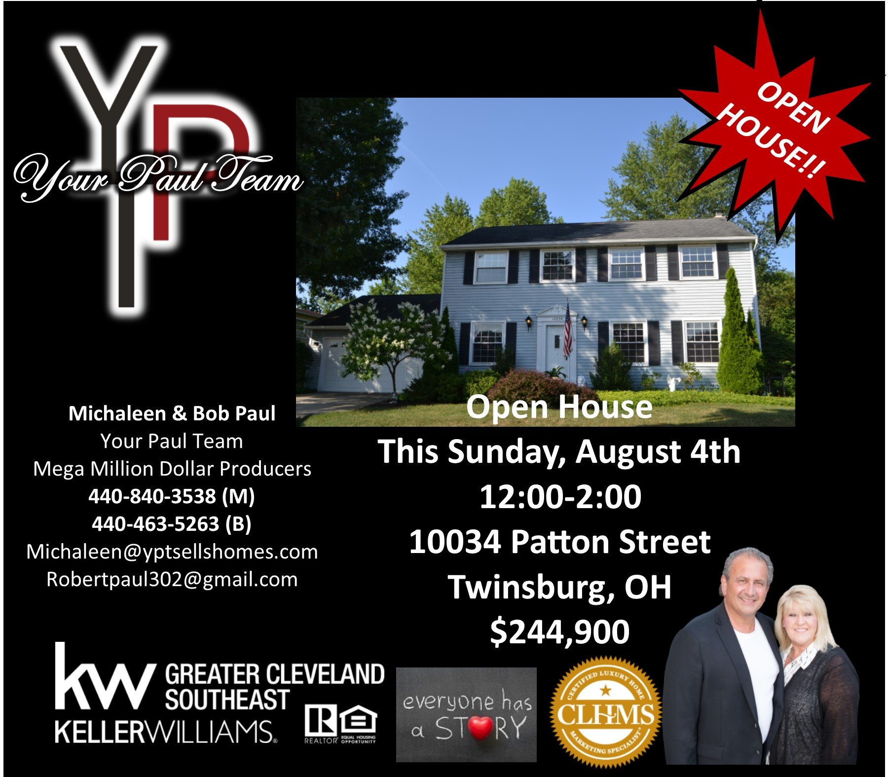 Open House this Sunday in Twinsburg!