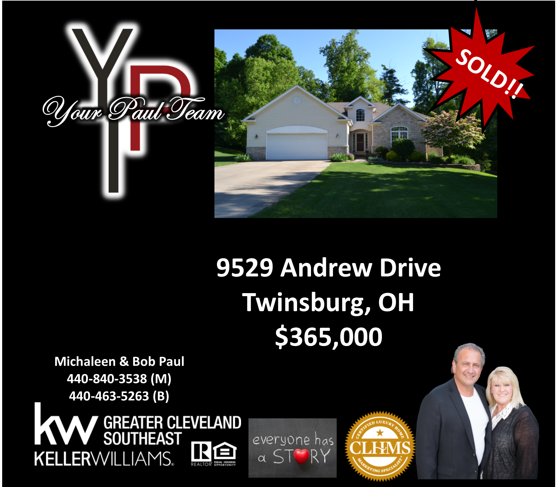Another Listing SOLD! By Your Paul Team – 9529 Andrew Drive, Twinsburg