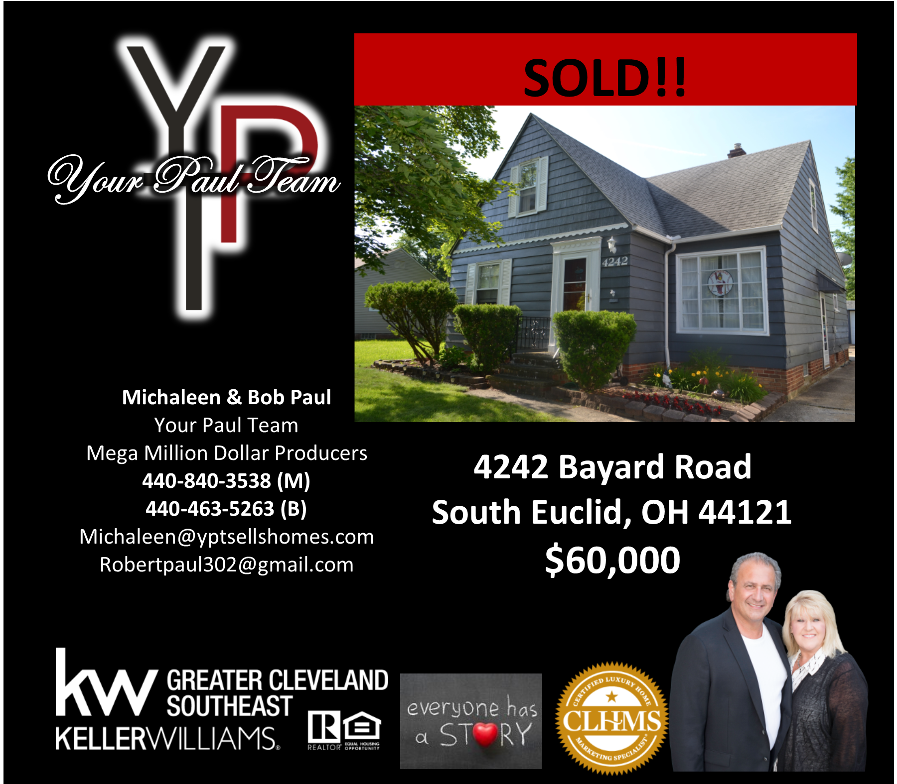 Another Listing SOLD by Your Paul Team! 4242 Bayard Road, South Euclid
