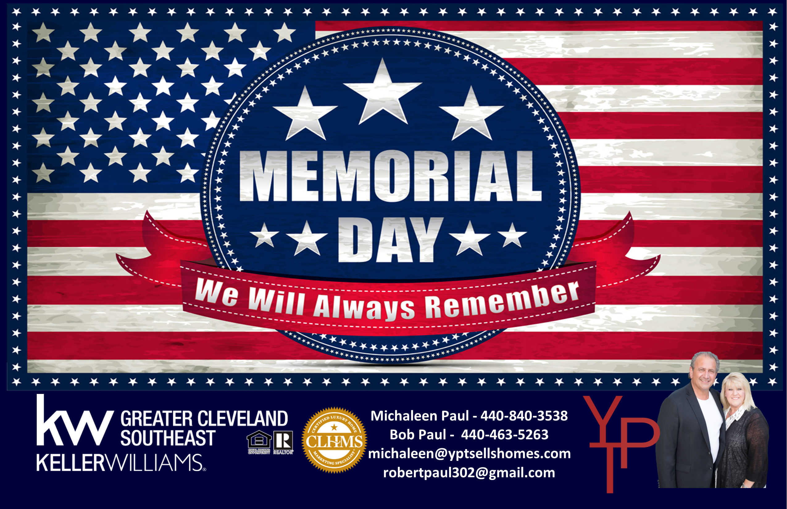 Memorial Day…We will always remember!